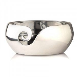 Furls Polished Aluminum Yarn Bowl