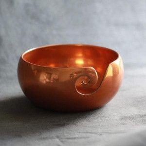 Furls Copper Finish Aluminum Yarn Bowl