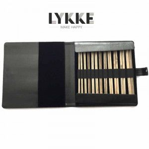 "Lykke Driftwood 10"" Straight Gift Set in Black Leather Pouch"