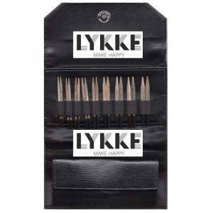 "Lykke 3.5"" Driftwood Interchangeable Gift Set in Black Faux Leather Pouch"