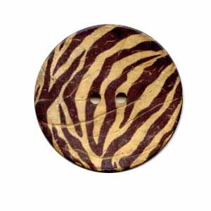 Exotic Buttons 12703 - Zebra