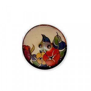 Exotic Buttons 14801 - Orchids Enamel Coconut