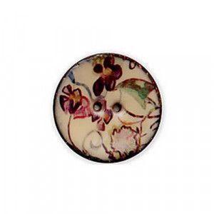 Exotic Buttons 14803 - Lilacs Enamel Coconut