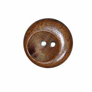 Exotic Buttons 17601-36 - Wood Scoop 7-8 in
