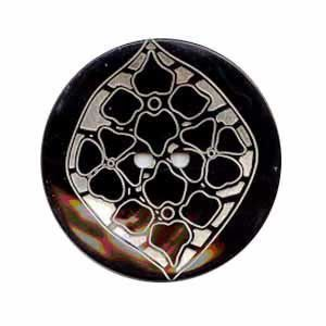 Exotic Buttons 27001-40 - MOP Paisley 25 mm