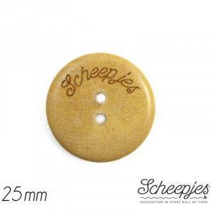 """Scheepjes Wooden Button, 1"""" / 25 mm"""