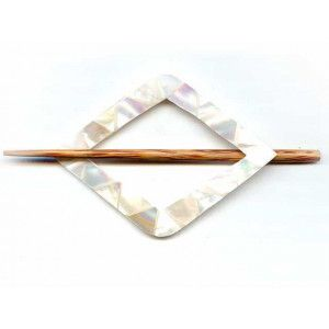 Exotic Shawl Pins 30701 - MOP Diamond