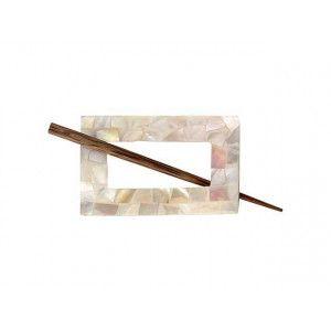 Exotic Shawl Pins 30703 - MOP Rectangle