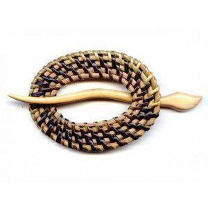 Exotic Shawl Pins 31202 - Oval Dk Wicker-Wood