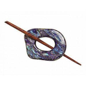 Exotic Shawl Pins 32501 - Navy Shell