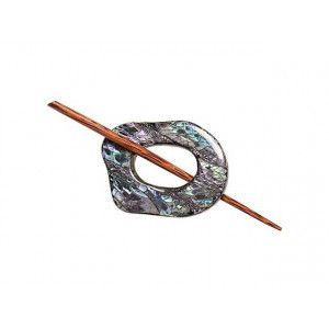 Exotic Shawl Pins 32503 - Black Shell
