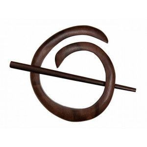 Exotic Shawl Pins 40801 - Tiger Ebony Spiral