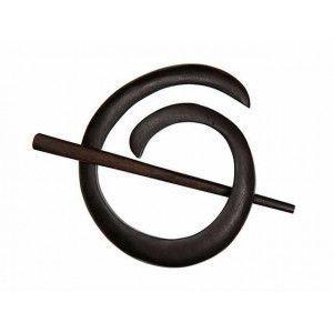 Exotic Shawl Pins 40802 - Ebony Spiral