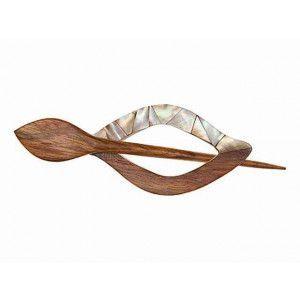 Exotic Shawl Pins 42702 - Brownlip Shell-Bayong Loop