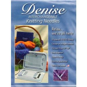 Interchangeable Blue Knitting Needles Set