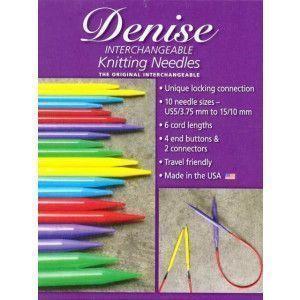 Interchangeable Blue Knitting Needles Set - Brigths
