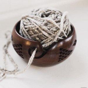 Furls Diamond Rosewood Yarn Bowl