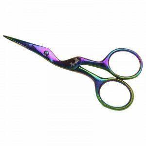 Nirvana Needle Arts Scissors - Iridescent Titanium Finish