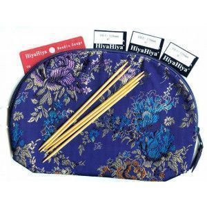 """Sock Needles Sets Bamboo 6"""" Double Pointed"""