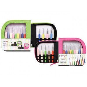 Crochet Hooks Sets Waves with Pink Case