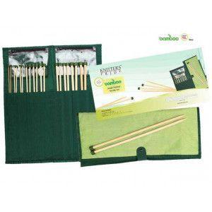"""Single Pointed Needle Set Bamboo 10"""" - 25 cm"""