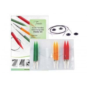 Trendz Acrylic Needles Interchangeable Chunky Set