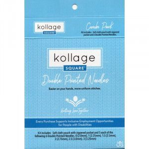 Kollage Square® Double Pointed Needles Combo Pack, 5""