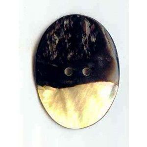 Lantern Moon Buttons Mother of Pearl; Oval 1 3-4 in
