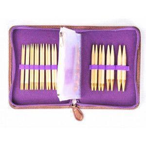 Interchangeable Needle Set Tulip Bamboo Carry C