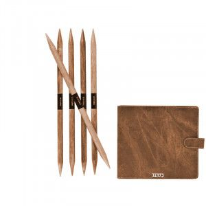 Lykke Driftwood Double Pointed Needles Set LARGE in Umber Pouch