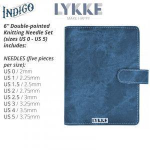 Lykke Indigo Double Pointed Needles Set SMALL in Indigo Pouch