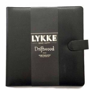 """Lykke Driftwood 10"""" Straight Gift Set in Black Leather Pouch"""