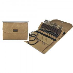 """Lykke 3.5"""" Driftwood Interchangeable Gift Set in Umber Pouch"""