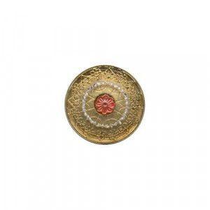 Czech Glass Buttons 19 - Mandala Gold 32 mm