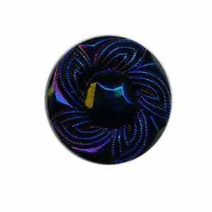 Czech Glass Buttons 187 - BE Dark Royal Blue 27 mm