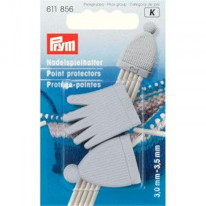 Prym Point Protectors 856 - Grey set for 2.5-4 US needles