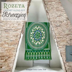 Scheepjes Yarns Cal 2019, Rozeta, Colour Crafter Yarn, Color Dusk