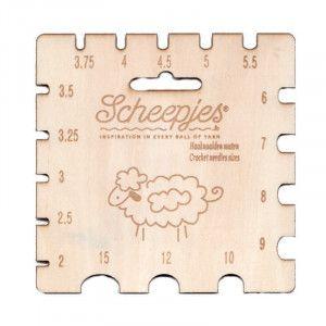 Scheepjes Maple Wood Crochet Needle Gauge