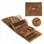 Lykke Driftwood Interchangeable Tunisian Crochet Hooks Set in Umber Pouch