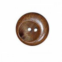 Exotic Buttons 17601-44 Wood Scoop 1 1-8 in