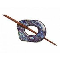 Exotic Shawl Pins 32501 - Navy Shell