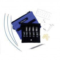 "ChiaoGoo 2"" & 3"" TWIST Blue Interchangeable Needles Shorties, 4-8 US"