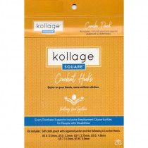 Kollage Square® Pointed Crochet Hooks Combo Pack, 6 Sizes, US A-H