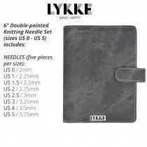Lykke Driftwood Double Pointed Needles Set SMALL in Grey Denim Pouch