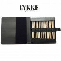 """Lykke Driftwood 14"""" Straight Gift Set in Black Leather Pouch"""