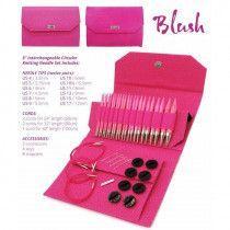 """Lykke 5"""" Blush Fuchsia Fabric Pouch Gift Set"""