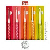 Prym Ergonomics Crochet Hooks Set, 5 hooks US E-J / 3.5 mm - 6 mm