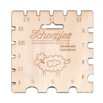 Scheepjes Maple Wood Crochet Needle Gauge