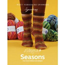 West Yorkshire Spinners patterns book - Seasons Socks Signature 4 Ply